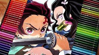 Nezuko Kamado  - (Demon Slayer: Kimetsu no Yaiba) - Drawing Tanjiro and Nezuko | Kimetsu no Yaiba [ft. ArtLucas]