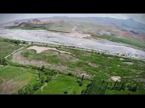 Kuş Bakışı Aras Nehri Kuş Cenneti, Kars-Iğdır Sınırı, Yukarı Çıyrıklı Köyü, Tuzluca, Türkiye