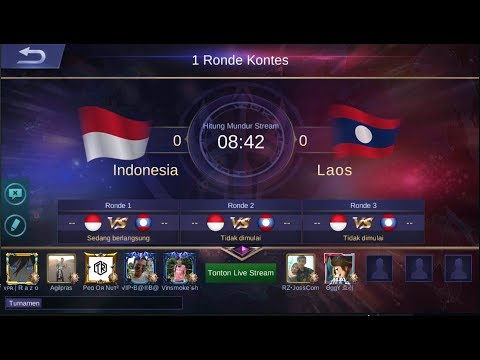 [LIVE] KONTES ARENA - INDONESIA Vs LAOS - MOBILE LEGEND