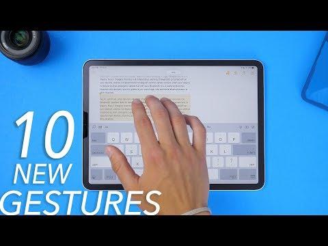 10 new iPad gestures in iPadOS!