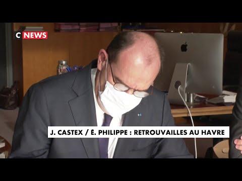 Les retrouvailles de Jean Castex et Edouard Philippe au Havre Les retrouvailles de Jean Castex et Edouard Philippe au Havre