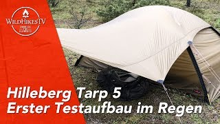 Hilleberg Tarp 5 - Erster Aufbau & Test im Regen - Das perfekte Ultraleicht-Tarp?