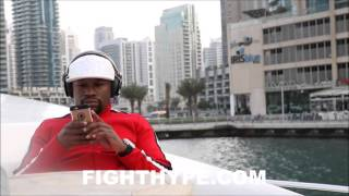 FLOYD MAYWEATHER LIVING IT UP LIKE A SHEIKH IN DUBAI; SHOPPING, DANCING, BOATING, SKIING AND MORE