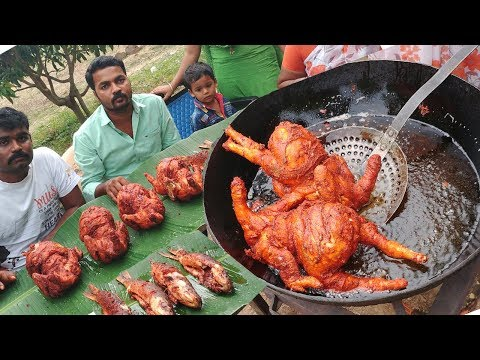 KING of Full CHICKEN, FISH Recipe | Amazing Taste | VILLAGE FOOD