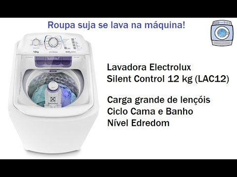 Lavadora Electrolux Silent Control 12kg (LAC12) - Carga grande de lençóis
