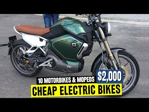 10 Electric Motorbikes Ranked by Affordability and Range: feat. Super Soco and Onyx Mopeds