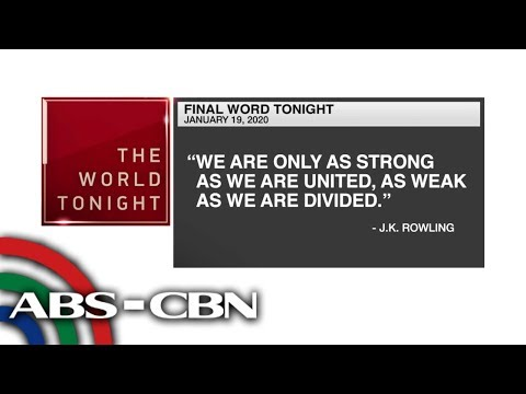 [ABS-CBN]  Final Word – January 19, 2020 | ANC
