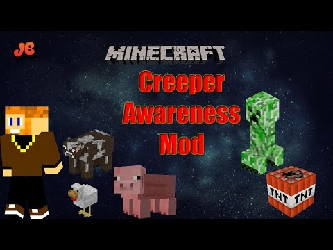 Minecraft Mod Showcase | Creeper Awareness Mod