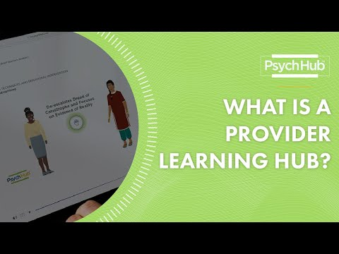 What is a Provider Learning Hub? - YouTube