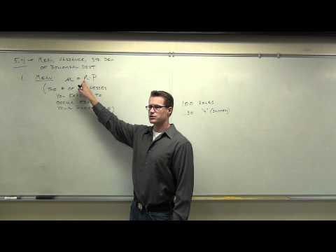 Statistics Lecture 5.4 Part 1