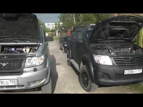Обзор Тойота Hilux против УАЗ ПАТРИОТ ждем Fortuner