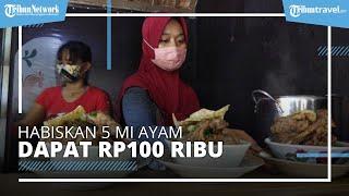 Unik, Warung Mi Ayam di Bantul Berikan Uang Rp100.000 untuk yang Bisa Menghabiskan 5 Mangkuk Mi