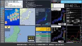 【宮城県沖】 2018年10月26日 03時36分(最大震度4)