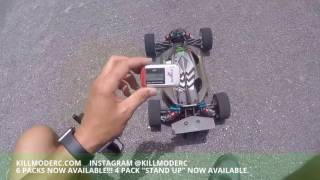 Kill Mode 6 Pack Capacitor Pack Test And Tune Arrma Typhon 125mph RC Top Speed Run