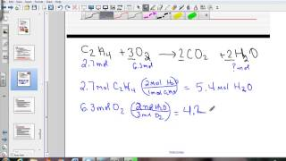 Limiting And Excess Reagents:  Stoichiometry Problems Modeled