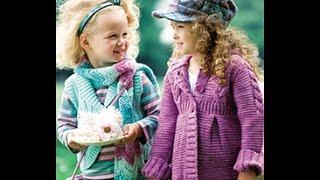 Вязание Спицами - Пальто для Девочки - 2017 / Knit Coats for Girls / Strickmäntel für Mädchen