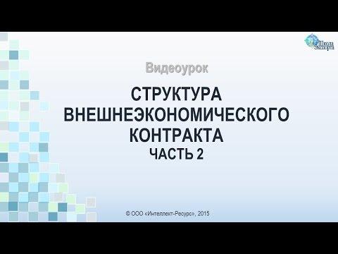 Структура внешнеэкономического контракта. Часть 2