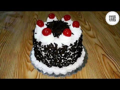 Jinsi ya kuoka keki bila oven na bila mayai na kupamba keki – keki ya black forest – mapishi rahisi