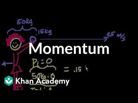 Momentum: Ice skater throws a ball (video)   Khan Academy