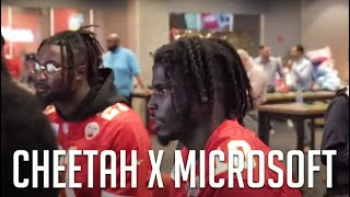 Cheetah and Microsoft Partner for a children's event ft Chris , Demarcus , Deanthony , Breeland