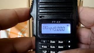Yaesu FT-4X (E) Unlock