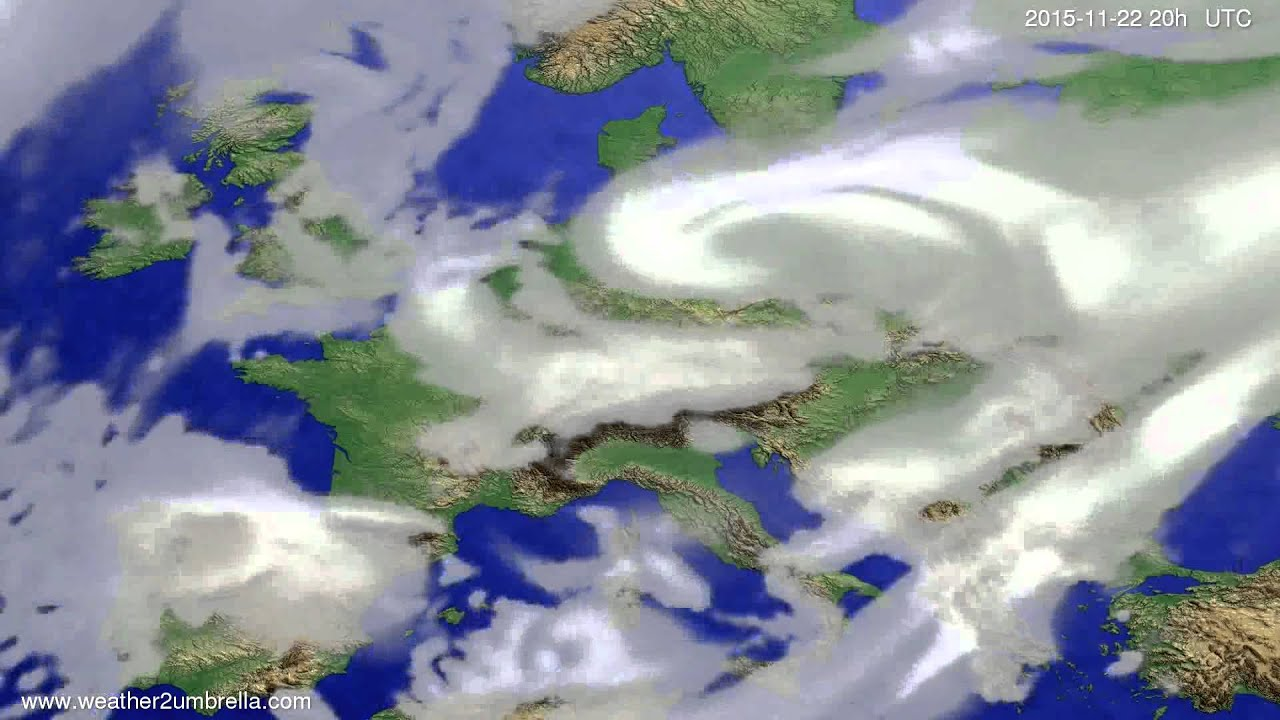 Cloud forecast Europe 2015-11-20