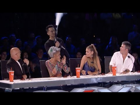 Demian Performs Another Death Defying Stunt  | Quarter Finals | America's Got Talent 2017 (видео)