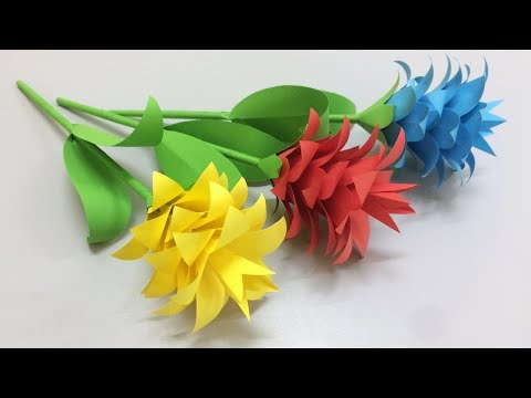 How to make beautiful flower with paper making paper flowers step how to make beautiful flower with paper making paper flowers step by step diy mightylinksfo