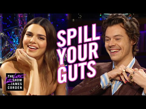 Kendall Jenner & Harry Styles Flirt Over Cod Sperm & Bull Testicles During His 'The Late Late