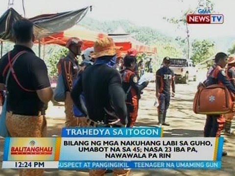 [GMA]  BT: Bilang ng mga nakuhang labi sa guho sa Itogon, umabot na sa 45