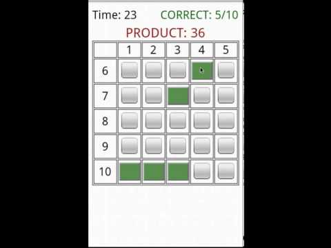Video of Times Table Grid Game