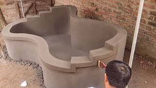 Great Idea - Build A Fish Tank From Cement | Garden Decoration