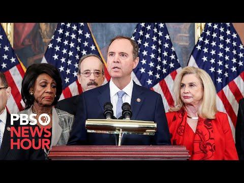 WATCH: House Democrats unveil articles of impeachment against Trump