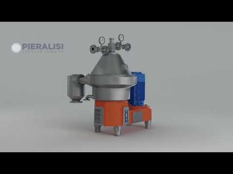 Pieralisi | animazione 3D - Separatore a scarico automatico - Serie FPC