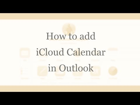 How to add iCloud Calendar to Outlook