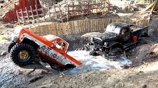 Two Trucks Compete on a Large Backyard Scale Trail Park   RC ADVENTURES