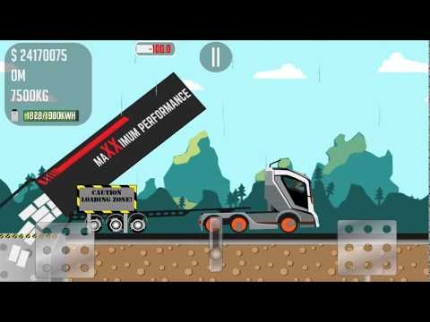 The game about trucker Joe is transporting bricks to a printing house