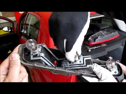 Fiat Grande Punto - Tail Light Bulb Replacement