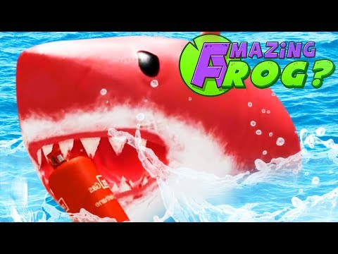 DEFEATING THE GIANT RED SHARK! - Amazing Frog - Part 144 | Pungence