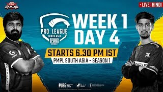 [Hindi] PMPL South Asia 2020 LIVE | PUBG Mobile Pro League 2020 LIVE STREAMING Day 4 Week 1