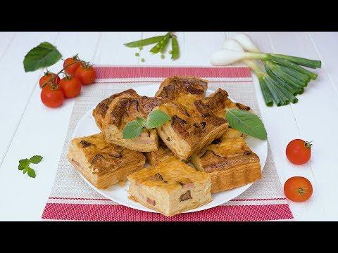 Как приготовить луковый пирог с беконом - Рецепты от Со Вкусом видео