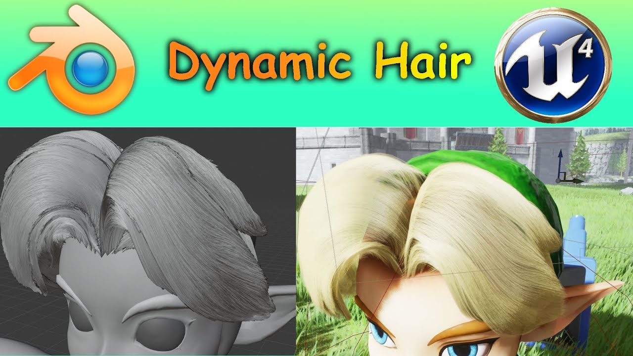 Dynamic Hair Tutorial - Blender to Unreal Engine 4 Groom UE4.25