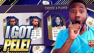 OMG! I GOT PELE !! MY GREATEST FUT DRAFT ON FIFA 18