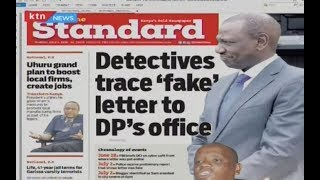 Detectives trace 'fake' letter to DP's office; chronology of events | PRESS REVIEW
