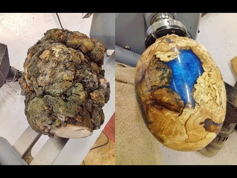 Woodturning Big Ugly Burl into Dragon Egg