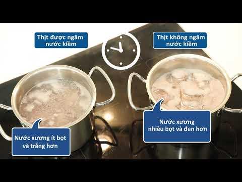 Nước kiềm trong sơ chế thực phẩm