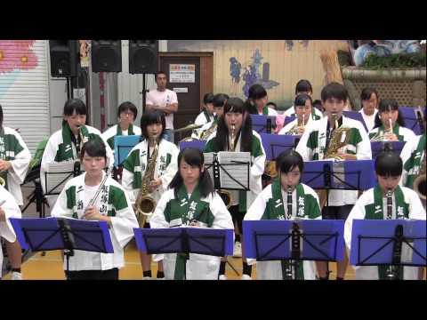 二瀬中学校吹奏楽部 飯塚わっしょい祭 2015(福岡県飯塚市