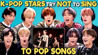 K Pop Stars React To Try Not To Sing Along Challenge (NCT 127 엔시티)