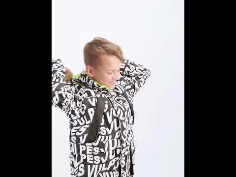 Куртка 105W22 Vulpes черно-белая