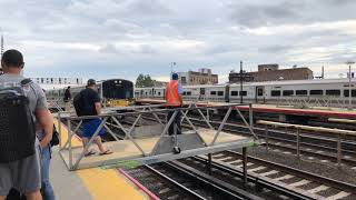 MTA Long Island Railroad Train 168 to Babylon @ Woodside Station with Temporary Platforms